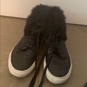 Vince rabbit fur sneakers
